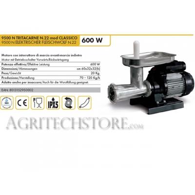 Elektrischer Fleischwolf Reber 9500N N.22 600 W