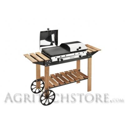 Barbecue Ferraboli Ghisa Gas, Holz, Stahl Art.049