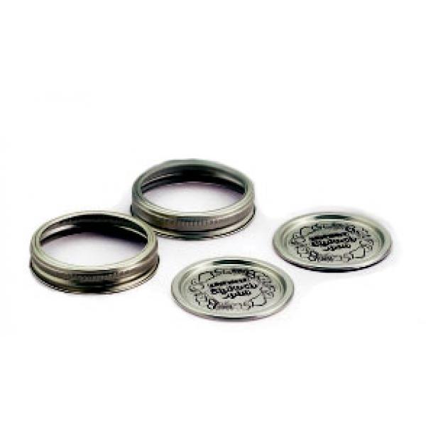 Packung 12 Deckelchen für Gläser + 12 Ringe für Leifheitgläser