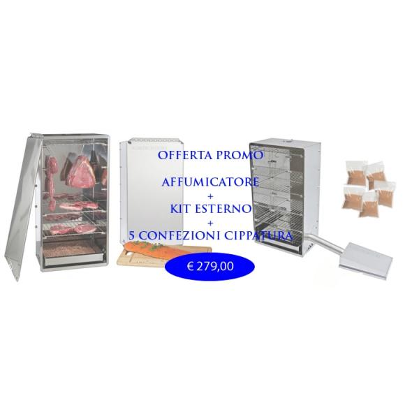 Smoker bieten komplette Kits und externe 6 Kg.Cippato