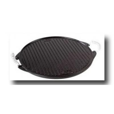 Platte aus versteinertem Eisen Durchmesser 42 cm.
