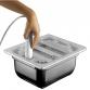 Heißer Stahl H 100 1/2 Gastronorm-Deckel und tritan