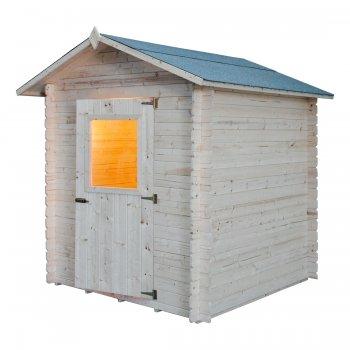 Holzhaus Cm. 200x200 Verriegelungs Mod. Pistachio