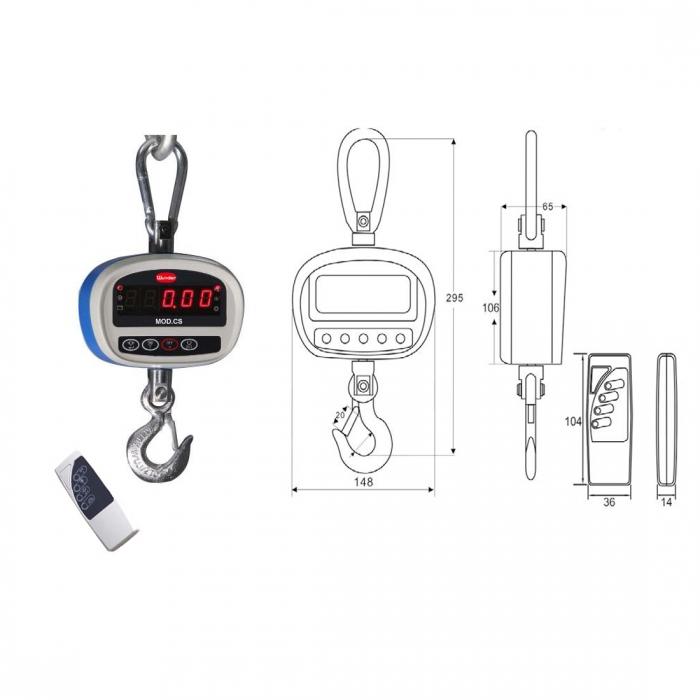 Multifunktion Elektronische Kraftmesser CS150 Kapazität kg.150