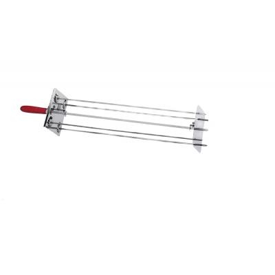 Spießhalter Kit  (zentrale Spieß+ seitliche Spießchen) 70 cm. 4L
