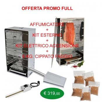 Voll Outdoor-Raucher-Kit Angebot, Starter-Kits und 6 Kg.Cippato