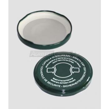 53 mm Twist Off Verschlusskappe mit Sicherheitsclip
