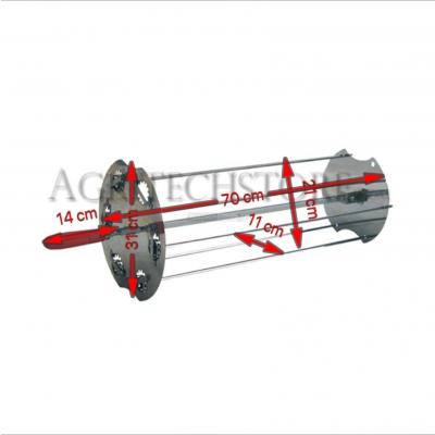 Spießhalter Kit  (zentrale Spieß+ seitliche Spießchen) 70 cm. 6L