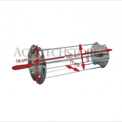Spießhalter Kit  (zentrale Spieß+ seitliche Spießchen) 120 cm. 6L